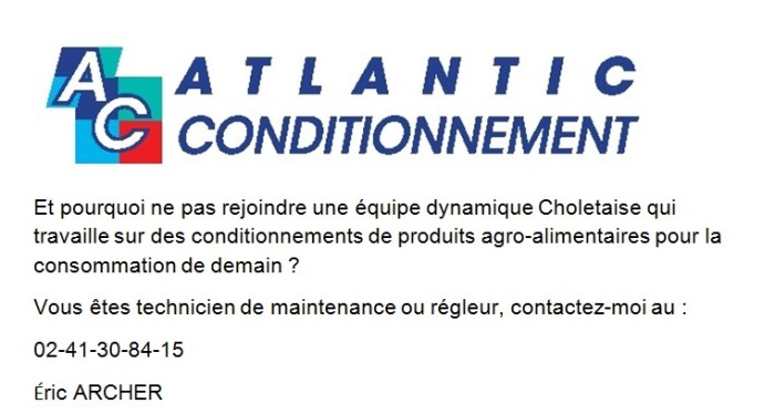 ATLANTIC CONDITIONNEMENT RECRUTE
