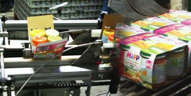 Fardelage en carton compact de pots en verre