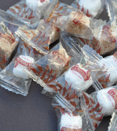 Emballage individuel de sucre