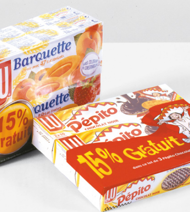 Co-packing pour des paquets de biscuits