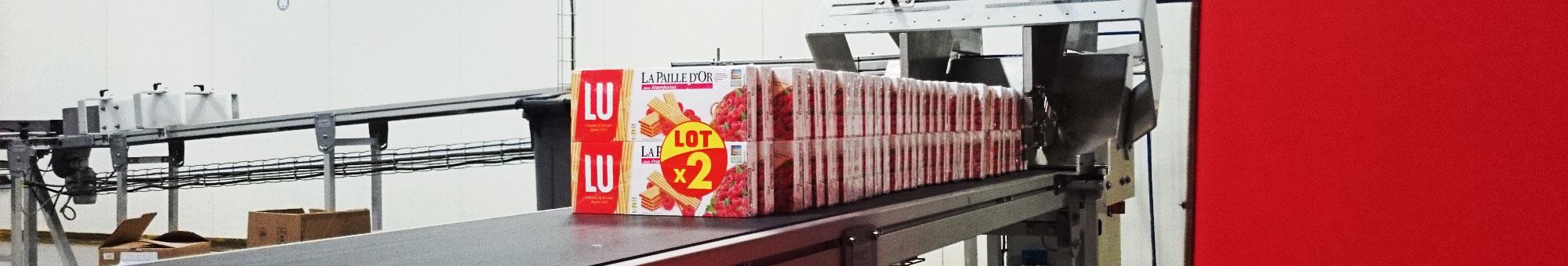 Processus de co-packing pour produits alimentaires