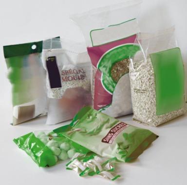 Ensachage de produits alimentaires : paquet en plastique souple