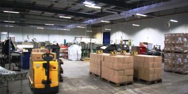 Entrepôt de l'usine Atlantic Conditionnement