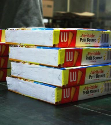 Emballage de paquets de biscuits