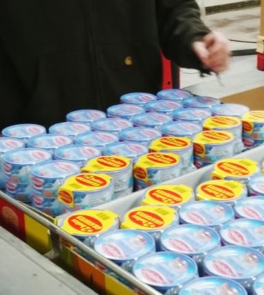 Co-packing des conserves Saupiquet